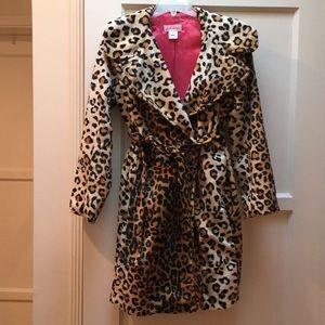 Leopard Fur coat Breakfast at Tiffany's kids Sz 12